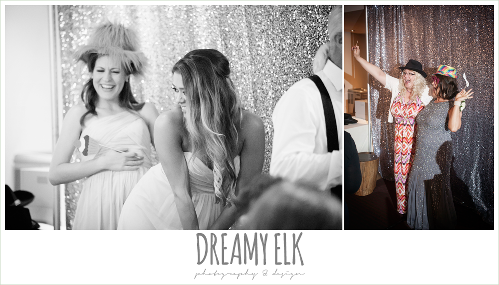 guests in photo booth at wedding reception, spring wedding, magnolia hotel, houston, texas {dreamy elk photography and design}
