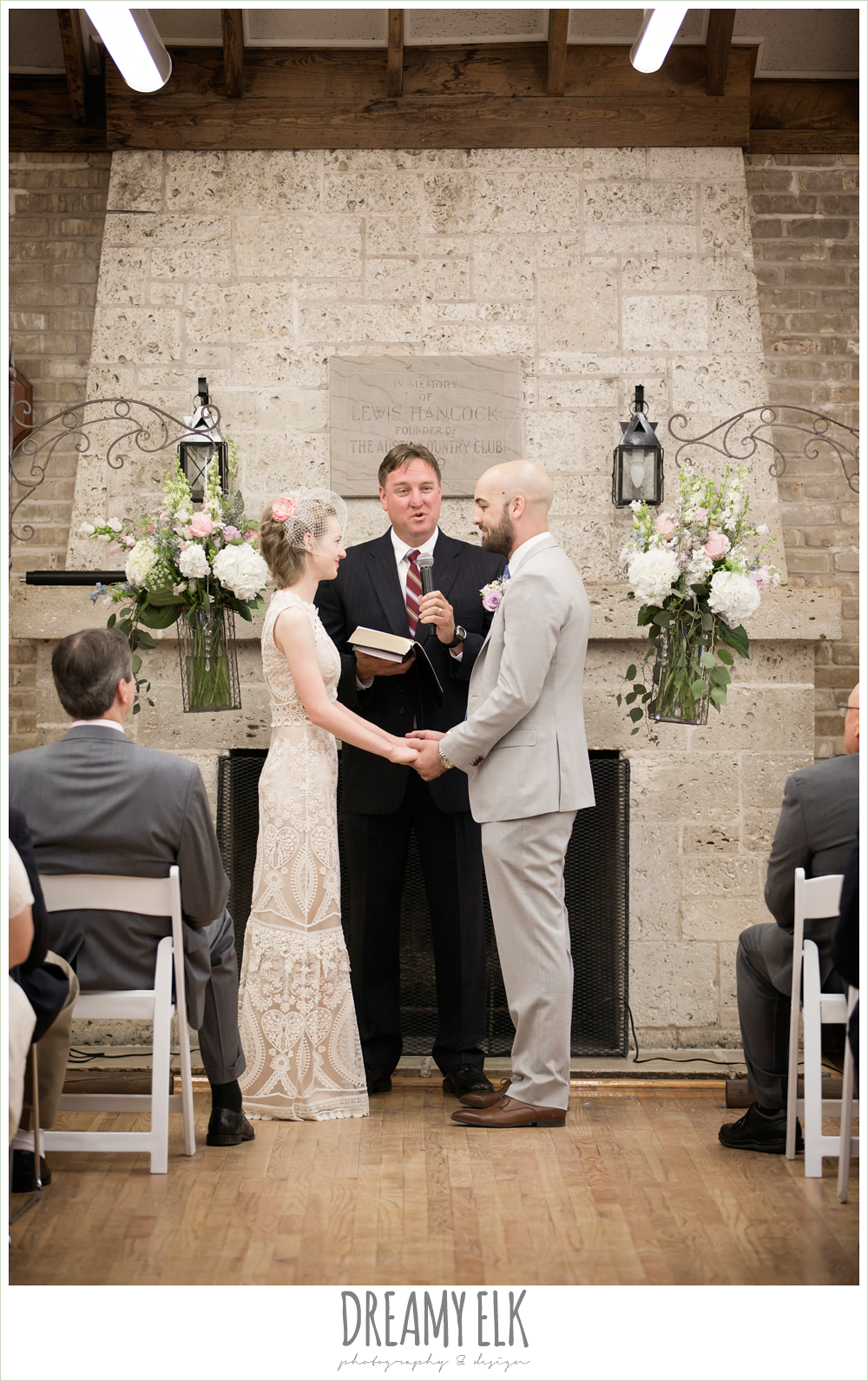 indoor wedding ceremony, spring wedding, austin, texas {dreamy elk photography and design}