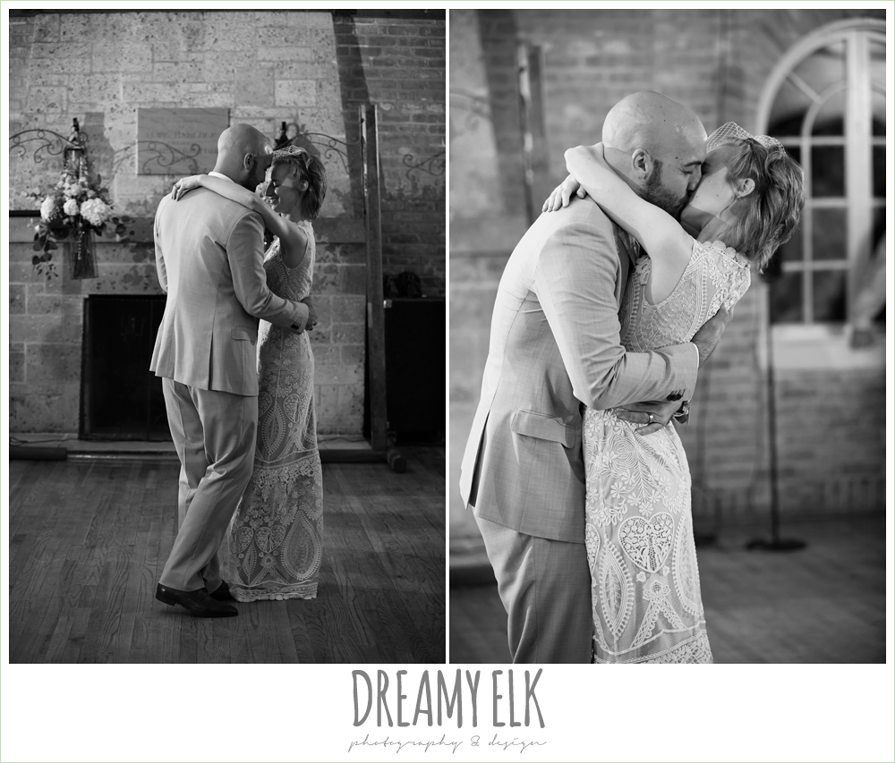 bride and groom first dance, spring wedding, hancock community center hyde park, austin, texas {dreamy elk photography and design}