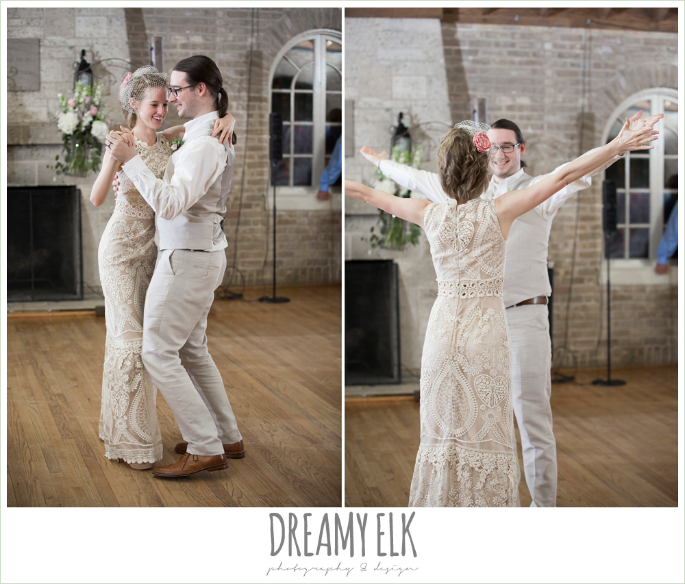 bride dancing with brother, spring wedding, hancock community center hyde park, austin, texas {dreamy elk photography and design}