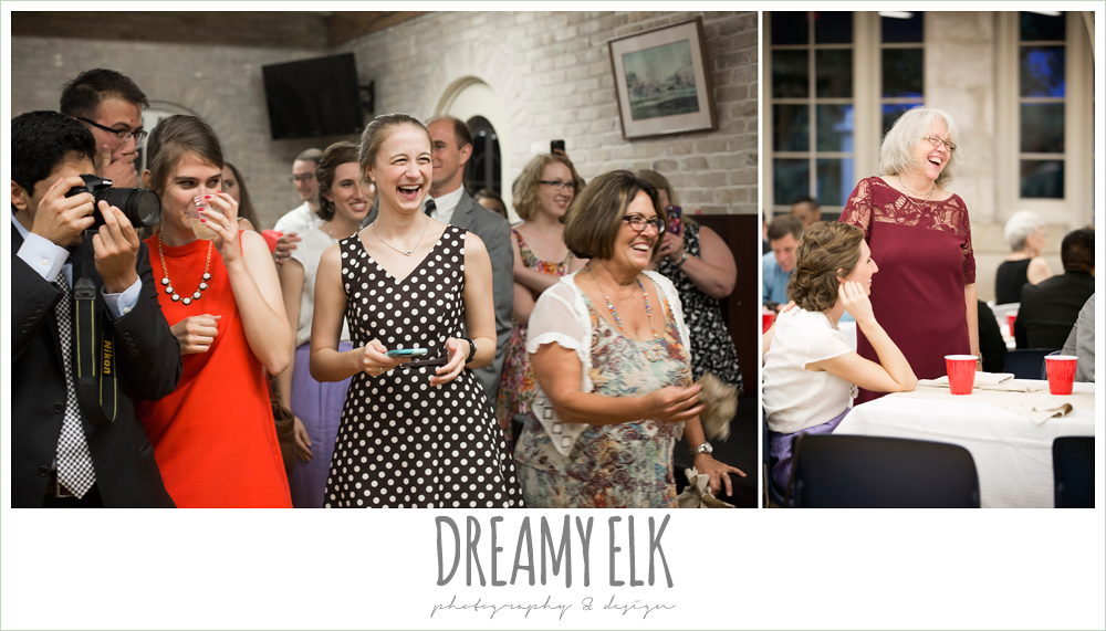 guests at wedding reception, spring wedding, hancock community center hyde park, austin, texas {dreamy elk photography and design}