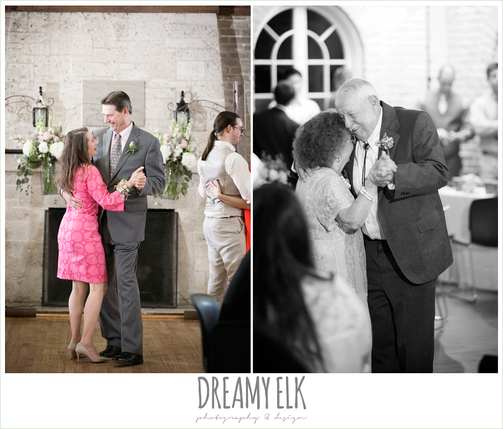 guests dancing at wedding reception, spring wedding, hancock community center hyde park, austin, texas {dreamy elk photography and design}