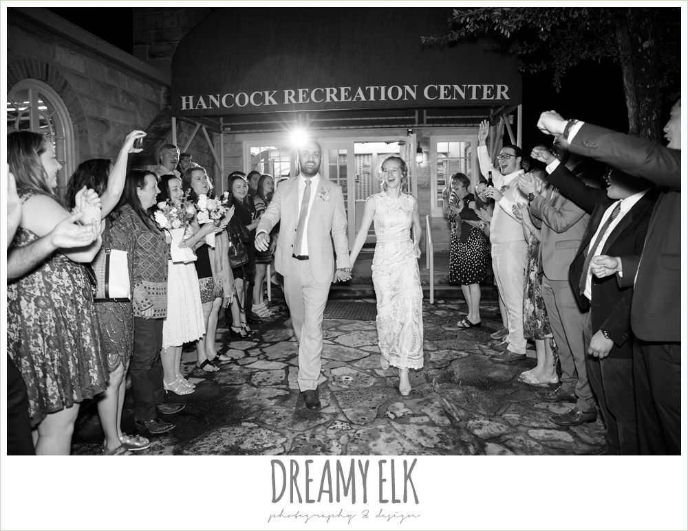 wedding send off, spring wedding, hancock community center hyde park, austin, texas {dreamy elk photography and design}