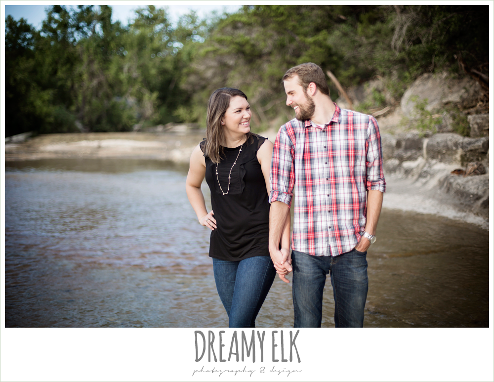 outdoor june engagement photo, bull creek park, austin, texas {dreamy elk photography and design}