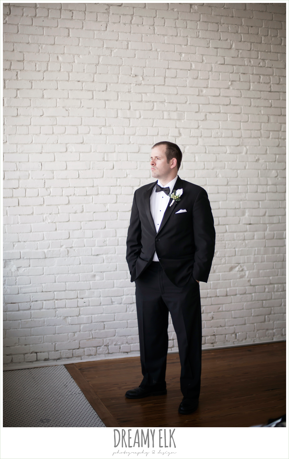 groom, classic tuxedo, white boutonniere, one eleven east, silver sequin wedding, fourth of july wedding photo {dreamy elk photography and design}