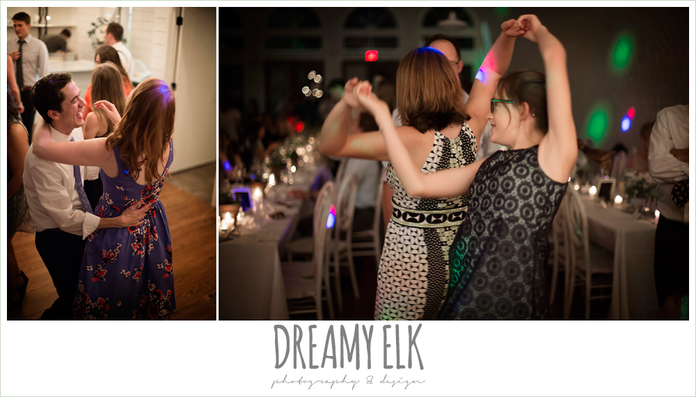 guests dancing at wedding reception, indoor wedding reception, one eleven east, silver sequin wedding, fourth of july wedding photo {dreamy elk photography and design}
