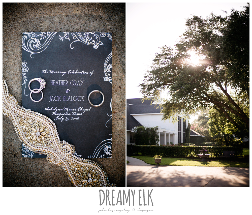 Byrnes Jewelers, wedding paper divas wedding invitation, haute bride belt, gray and white wedding invitation, rhinestone belt for wedding dress, july summer morning wedding, ashelynn manor, magnolia, texas {dreamy elk photography and design}