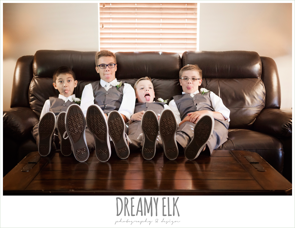 jcrew boys suits, funny kids at wedding, july summer morning wedding, ashelynn manor, magnolia, texas {dreamy elk photography and design}