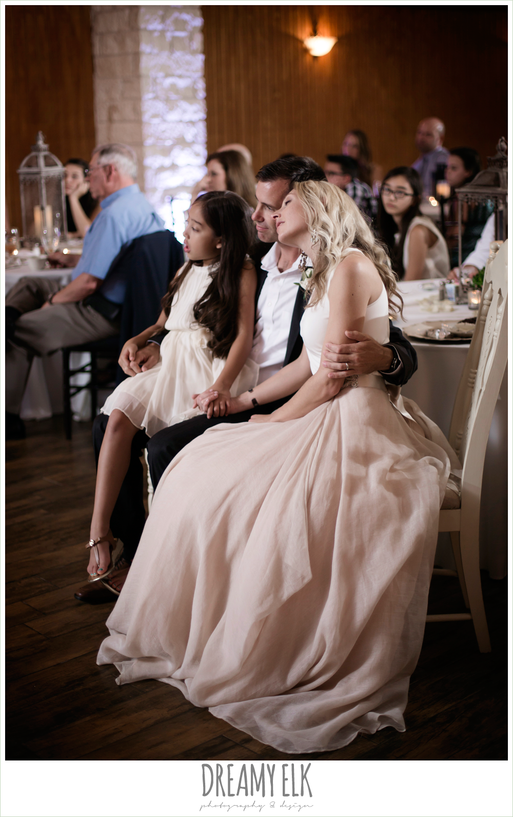 carol hannah kensington halter and blush skirt, bride and groom during wedding reception, july summer morning wedding, ashelynn manor, magnolia, texas {dreamy elk photography and design} photo