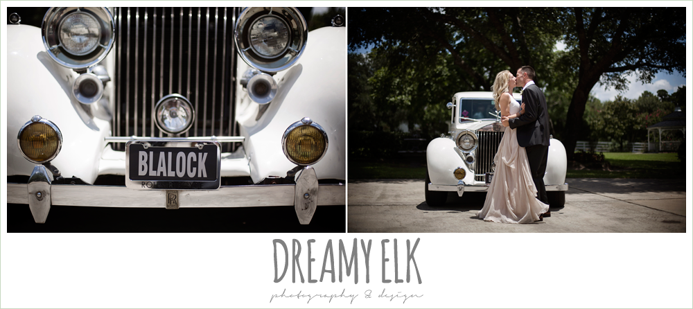 Monarch British Limousines, rolls royce wedding getaway car, july summer morning wedding, ashelynn manor, magnolia, texas {dreamy elk photography and design} photo