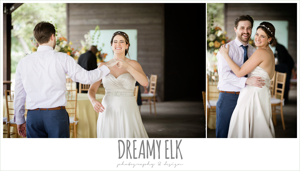 bride and groom, last dance, empty reception, colorful outdoor sunday morning brunch wedding, hyatt hill country club, san antonio wedding photo {dreamy elk photography and design}