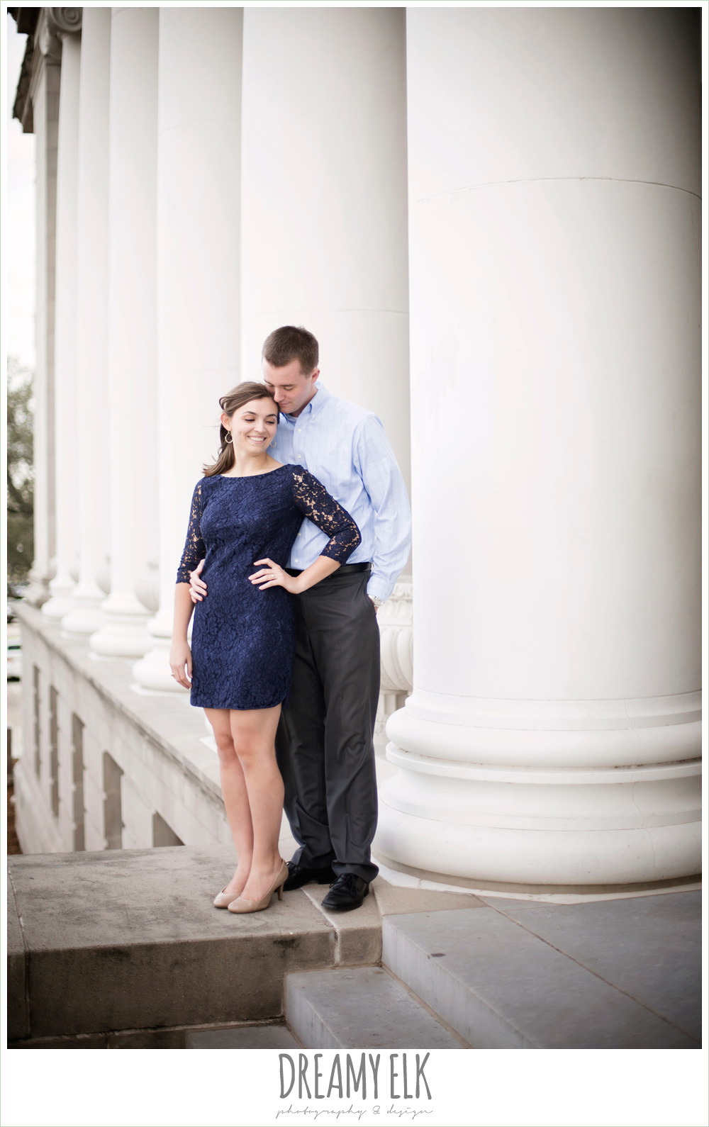administration building fall outdoor college station engagement photo {dreamy elk photography and design}