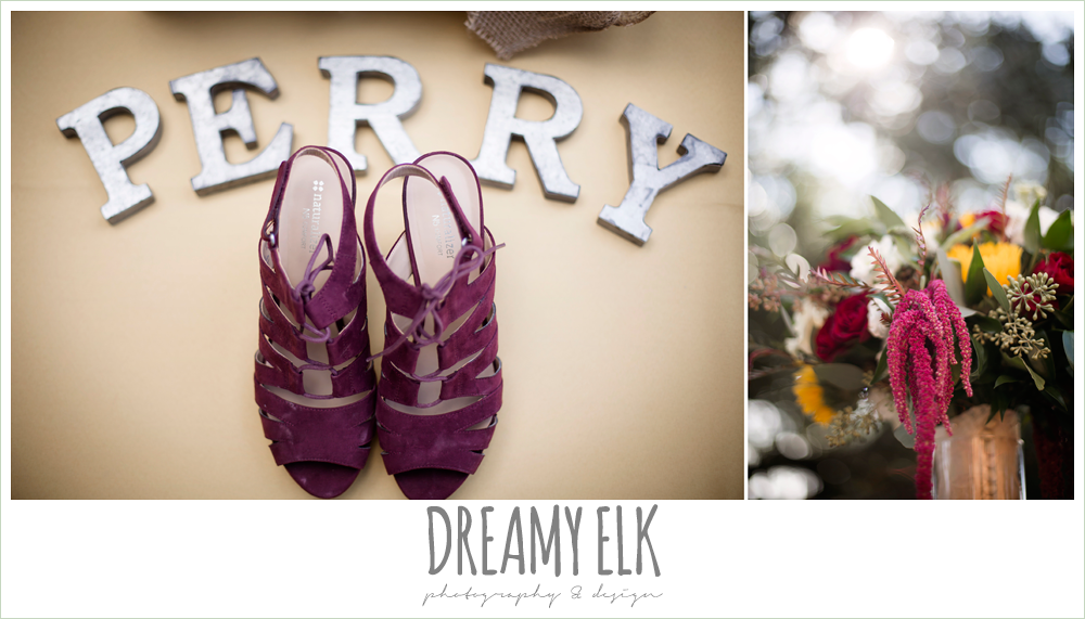 naturalizer maroon wedding heels, wild bunches floral, fall wedding bouquet, maroon wedding shoes, fall wedding photo, la hacienda, dripping springs, texas {dreamy elk photography and design}