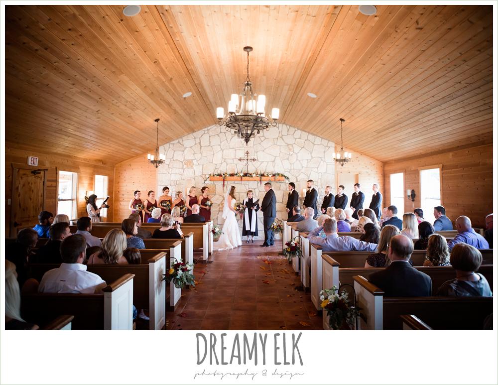 indoor wedding chapel, maroon and gold fall wedding photo, la hacienda, dripping springs, texas {dreamy elk photography and design}