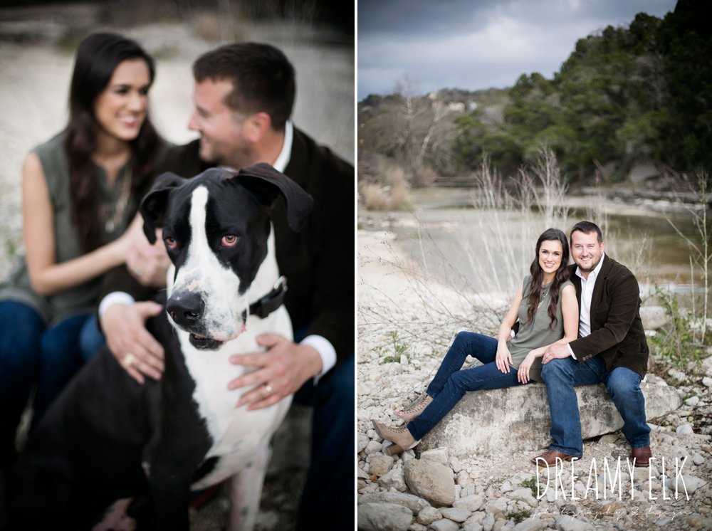 great dane, fun winter anniversary photo shoot with dog, bull creek park, austin, texas {dreamy elk photography and design}