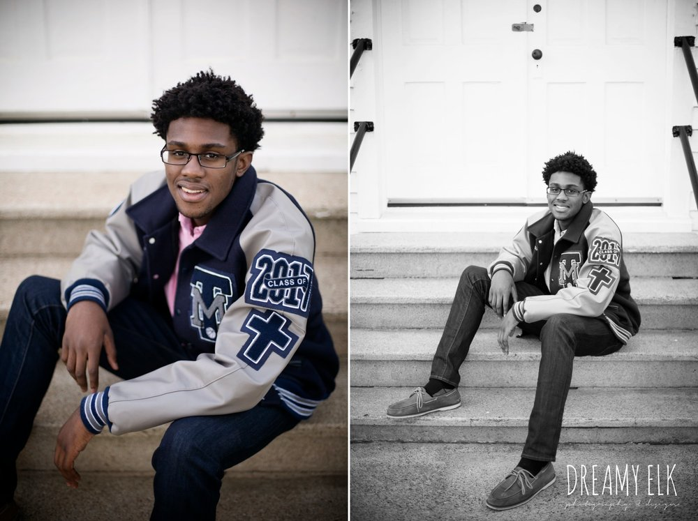 spring, march, high school senior boy, letter jacket, senior photo, tomball, texas {dreamy elk photography and design}