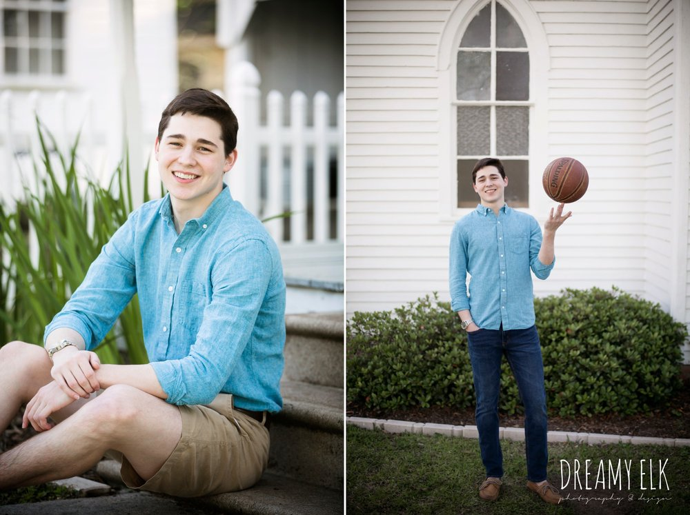 spring, march, high school senior boy, basketball player, senior photo, tomball, texas {dreamy elk photography and design}