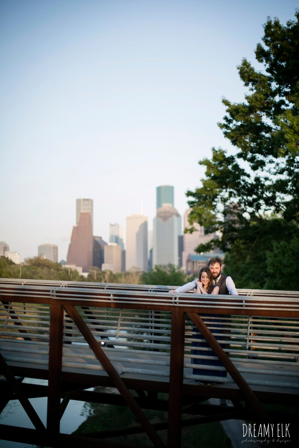 skyline, spring, march, formal engagement photo, allen parkway, houston, texas {dreamy elk photography and design}