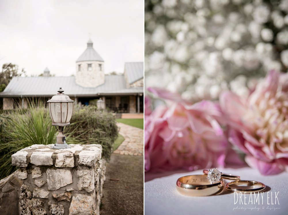 heb blooms, gold wedding rings, solitaire engagement ring, cloudy march wedding photo, canyon springs golf club wedding, san antonio, texas {dreamy elk photography and design}