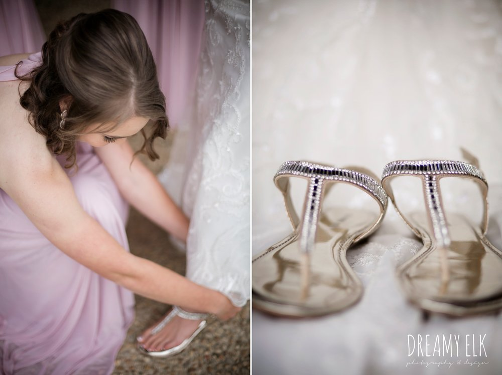 gold sandals, cloudy march wedding photo, canyon springs golf club wedding, san antonio, texas {dreamy elk photography and design}
