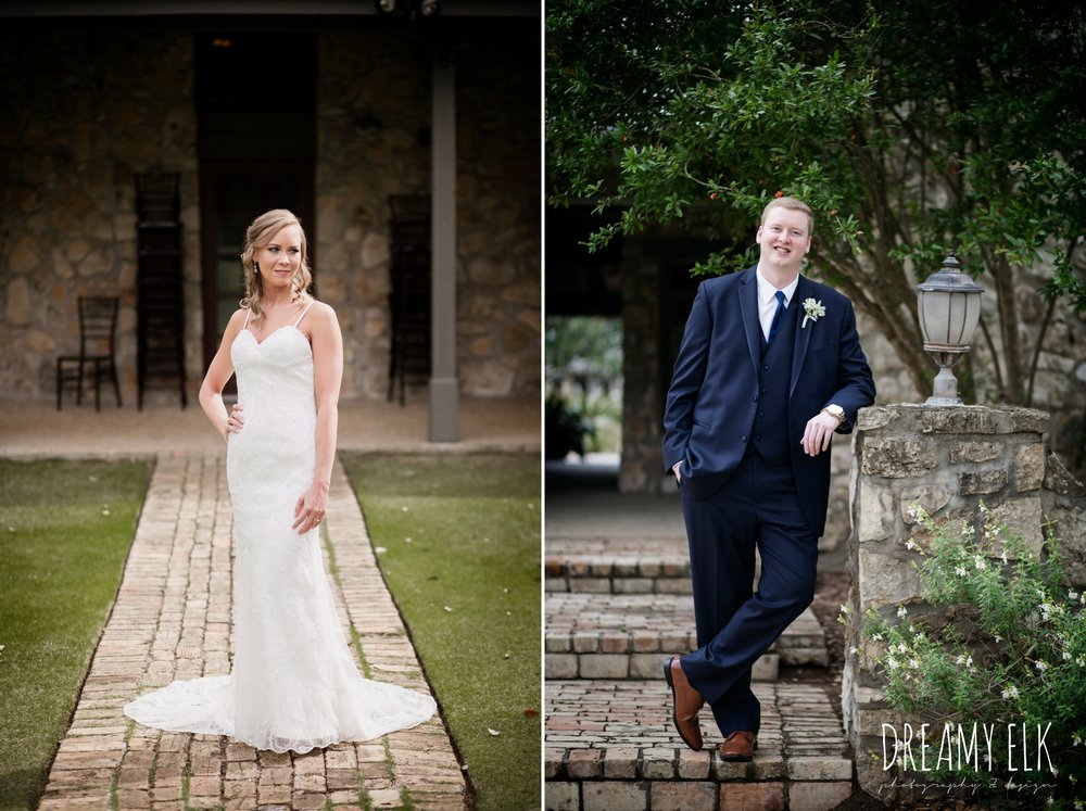 groom and groomsmen in navy suits, backless column sheath wedding dress, cloudy march wedding photo, canyon springs golf club wedding, san antonio, texas {dreamy elk photography and design}