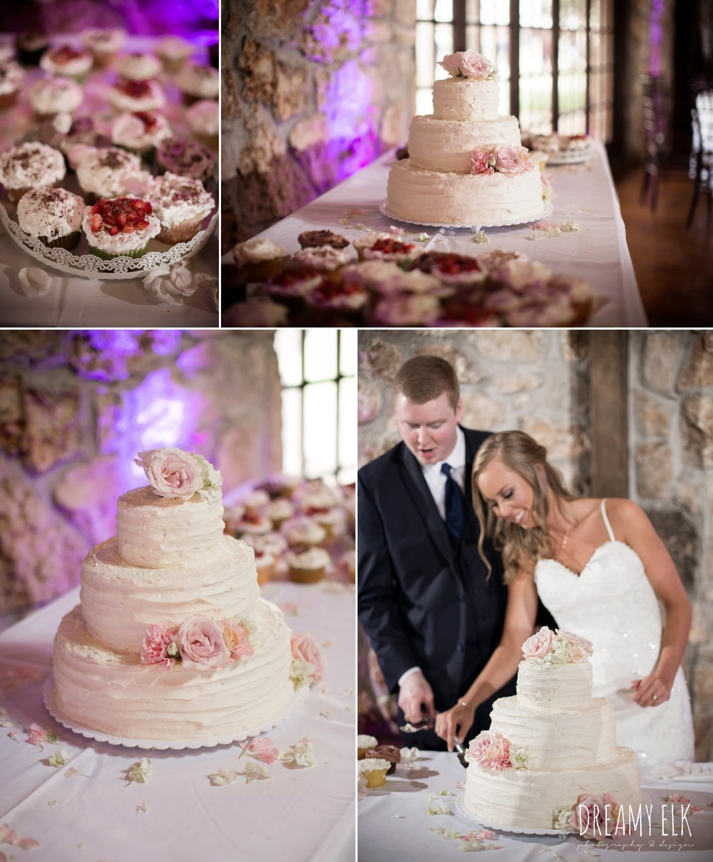 Sweet Secrets Cake Shop, assorted cupcakes and wedding cake, cutting the cake, cloudy march wedding photo, canyon springs golf club wedding, san antonio, texas {dreamy elk photography and design}