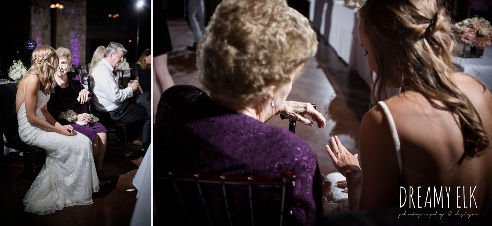 bride and grandmother, wedding reception, cloudy march wedding photo, canyon springs golf club wedding, san antonio, texas {dreamy elk photography and design}