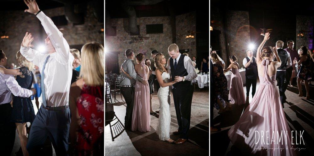 dj masquerade, guests dancing at wedding reception, cloudy march wedding photo, canyon springs golf club wedding, san antonio, texas {dreamy elk photography and design}