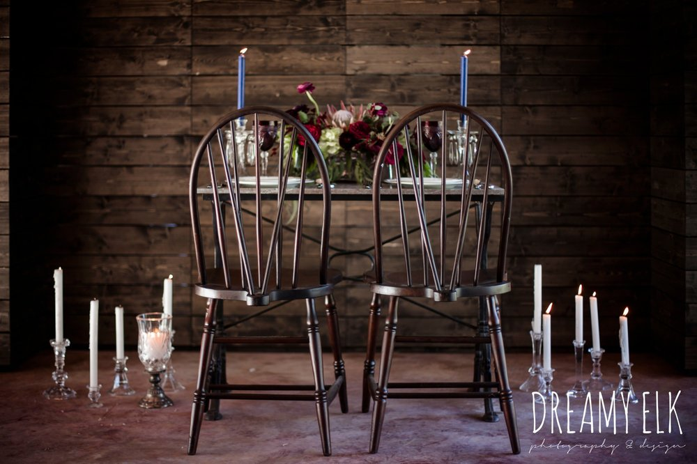 feel good find, the cedars ranch, libby cole creations, moody rich delicate marfa inspired burgundy maroon black white spring styled wedding photo shoot {dreamy elk photography and design}