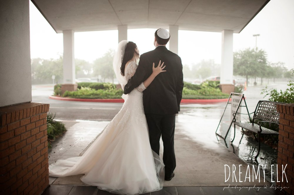 rain on wedding day, Misora Bridal, halo beauty bar makeup, Lisa Pelayo Makeup & Beauty, bride, essence of australia wedding dress, groom, michael kors suit, jewish wedding ceremony, summer june jewish wedding photo {dreamy elk photography and design}