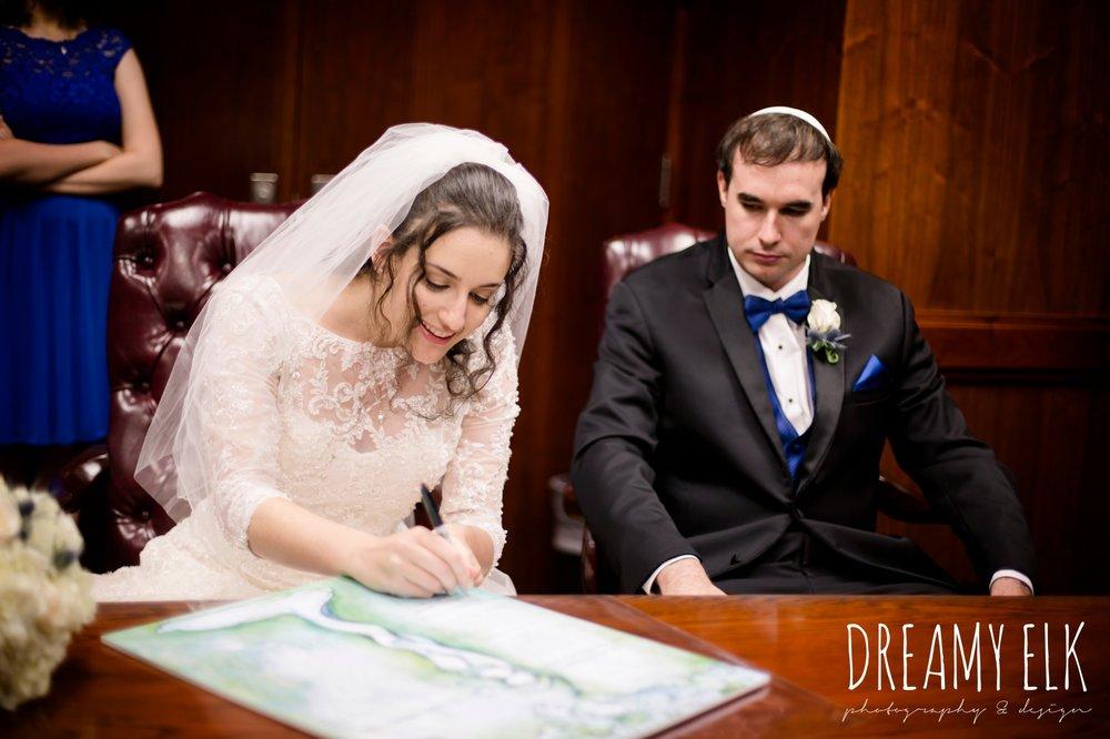 signing the ketubah, jewish wedding ceremony, summer june jewish wedding photo {dreamy elk photography and design}