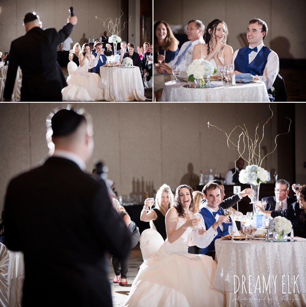 toasts at wedding reception, summer june jewish wedding photo {dreamy elk photography and design}