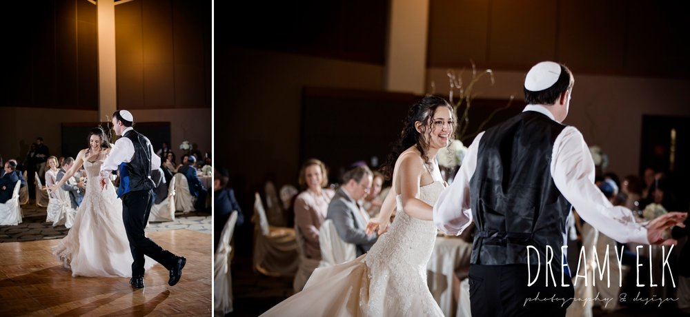 bride and groom choreographed first dance, dancing, summer june jewish wedding photo {dreamy elk photography and design}