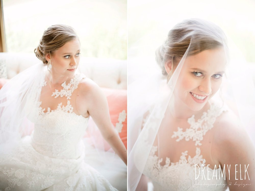 bride, indoor bridal photo, pronovias illusion neckline wedding dress, wedding hair updo, katy reddell hair and makeup, summer july wedding photo, canyonwood ridge, dripping springs, texas {dreamy elk photography and design}