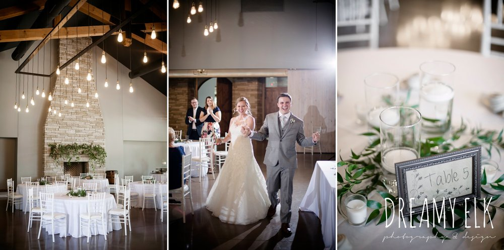 indoor wedding reception, white and green wedding, wild bunches floral, summer july wedding photo, canyonwood ridge, dripping springs, texas {dreamy elk photography and design}