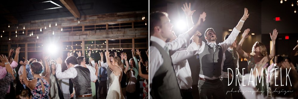 indoor wedding reception, guests dancing, summer july wedding photo, canyonwood ridge, dripping springs, texas {dreamy elk photography and design}