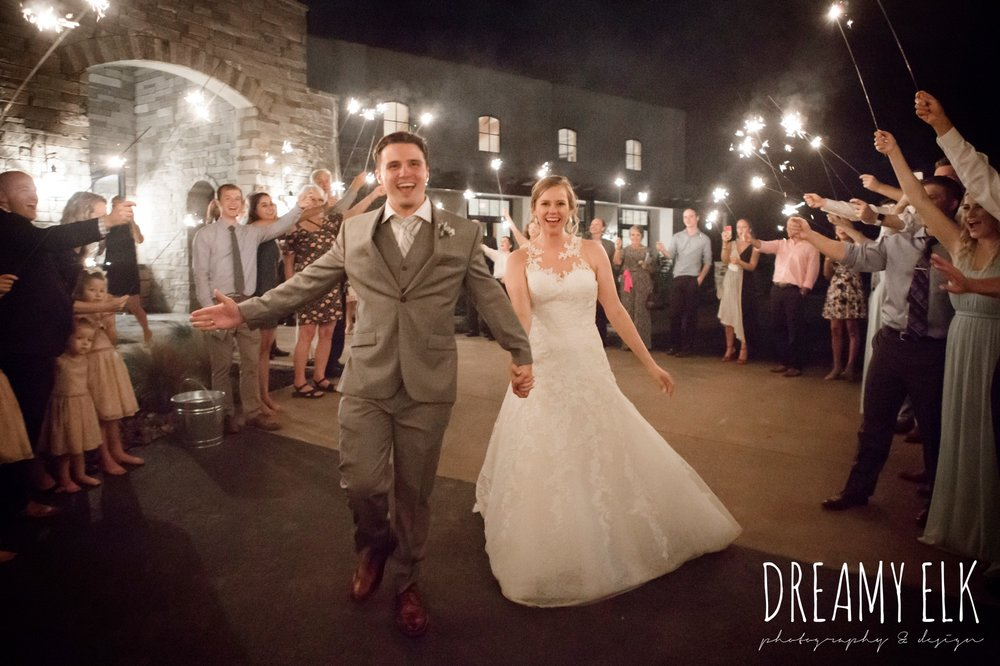 sparkler send off, summer july wedding photo, canyonwood ridge, dripping springs, texas {dreamy elk photography and design}