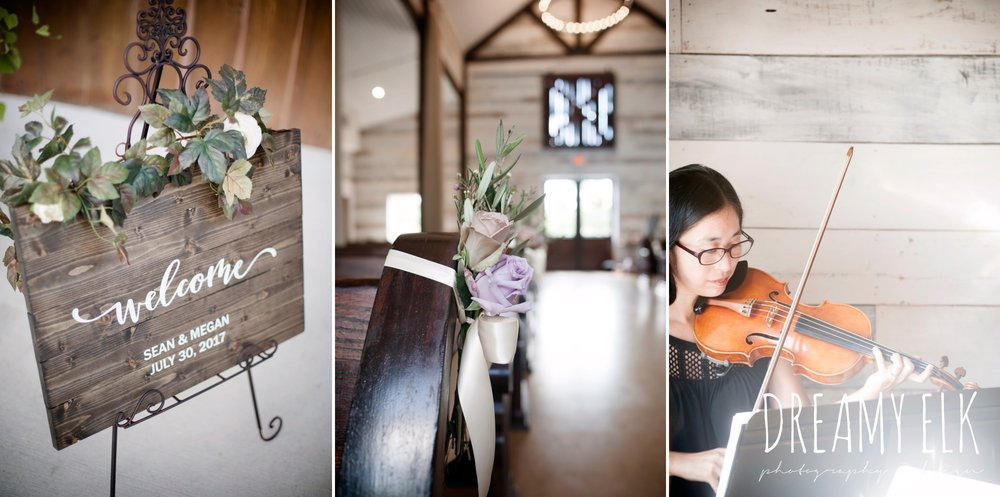 wooden welcome wedding sign, string quartet, summer july wedding, lavender, big sky barn, houston, texas, austin wedding photographer {dreamy elk photography and design} photo