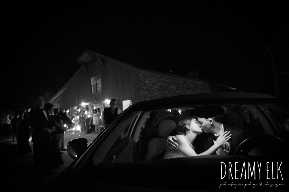 bride and groom kissing in the car, summer july wedding, lavender, big sky barn, houston, texas, austin wedding photographer {dreamy elk photography and design} photo