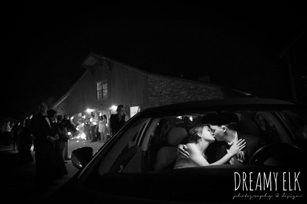bride and groom kissing in the car, summer july wedding, lavender, big sky barn, houston, texas, austin wedding photographer {dreamy elk photography and design} photo