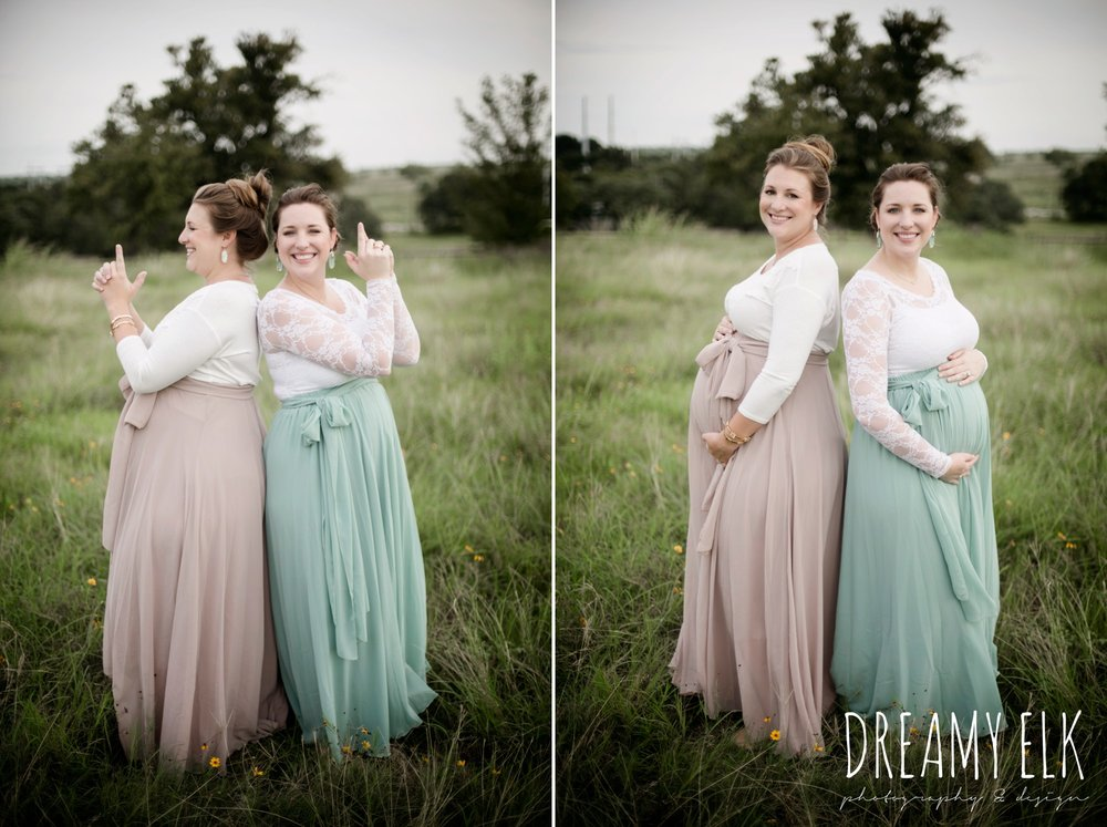sister maternity photo