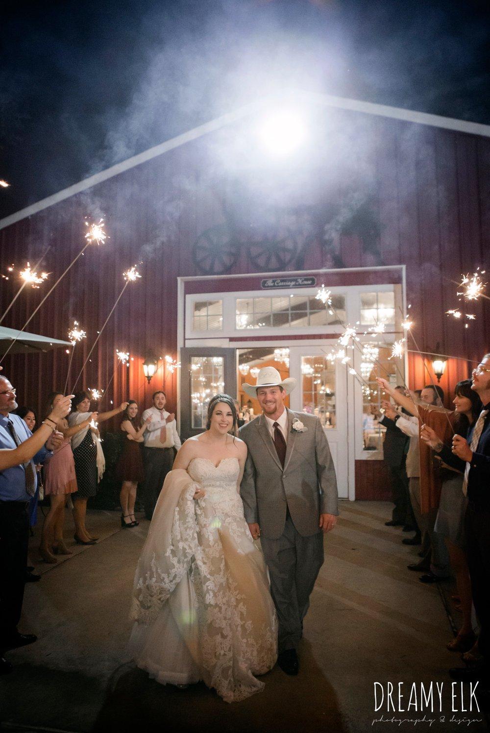 night send off with sparklers, september wedding photo, ashelynn manor, magnolia, texas, austin texas wedding photographer {dreamy elk photography and design}