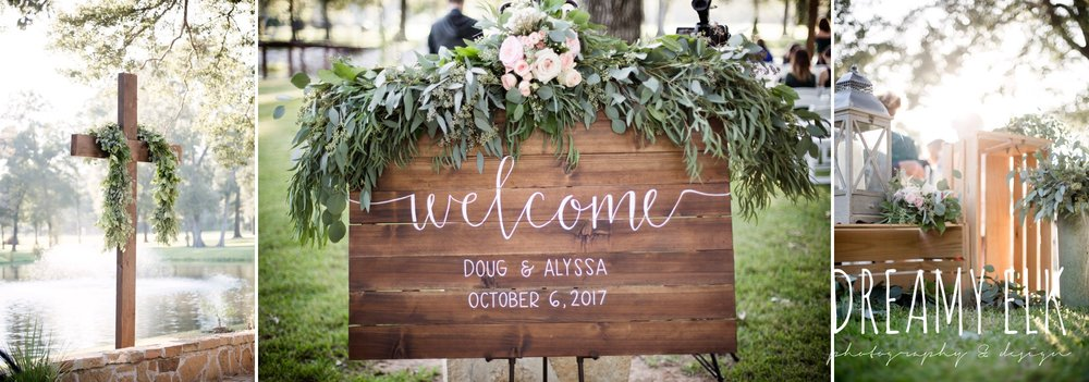 wedding decor, wedding wooden signage, outdoor fall october wedding photo, blush and gray wedding, balmorhea weddings and events, dreamy elk photography and design, austin texas wedding photographer
