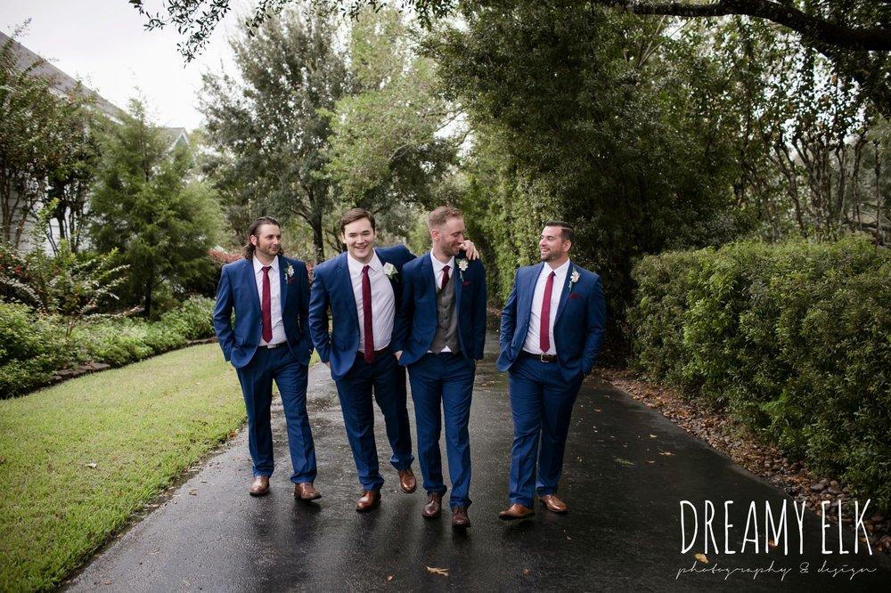 groom and groomsmen, navy suit gray vest maroon tie, Bravo suit and tux, fall wedding, gold and navy wedding photo, ashelynn manor, austin texas wedding photographer, dreamy elk photography and design, emily ross