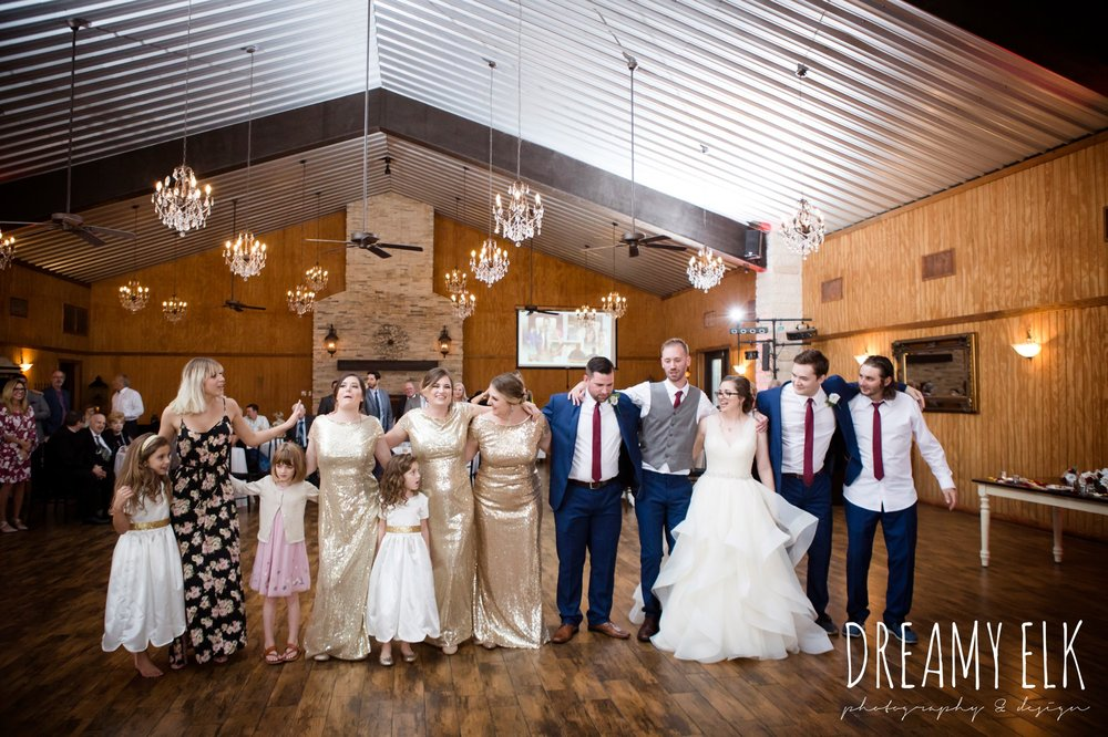 guests dancing at wedding, fall wedding, gold and navy wedding photo, ashelynn manor, austin texas wedding photographer, dreamy elk photography and design, emily ross
