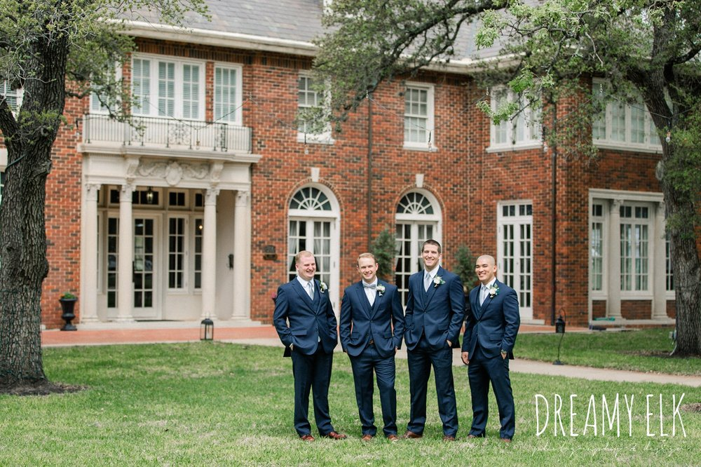 groom and groomsmen, men's wearhouse, spring wedding, the astin mansion, bryan, texas, spring wedding, dreamy elk photography and design