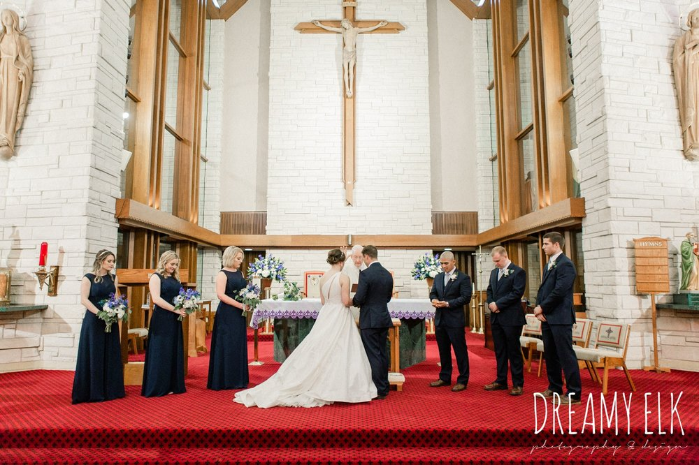 bride and groom, catholic wedding ceremony church, modern wedding dress ballgown, spring wedding, the astin mansion, bryan, texas, spring wedding, dreamy elk photography and design
