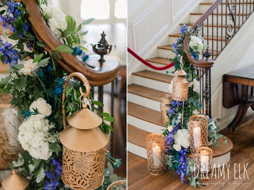 carriage house floral design, blue wedding flowers, spring wedding, the astin mansion, bryan, texas, spring wedding, dreamy elk photography and design