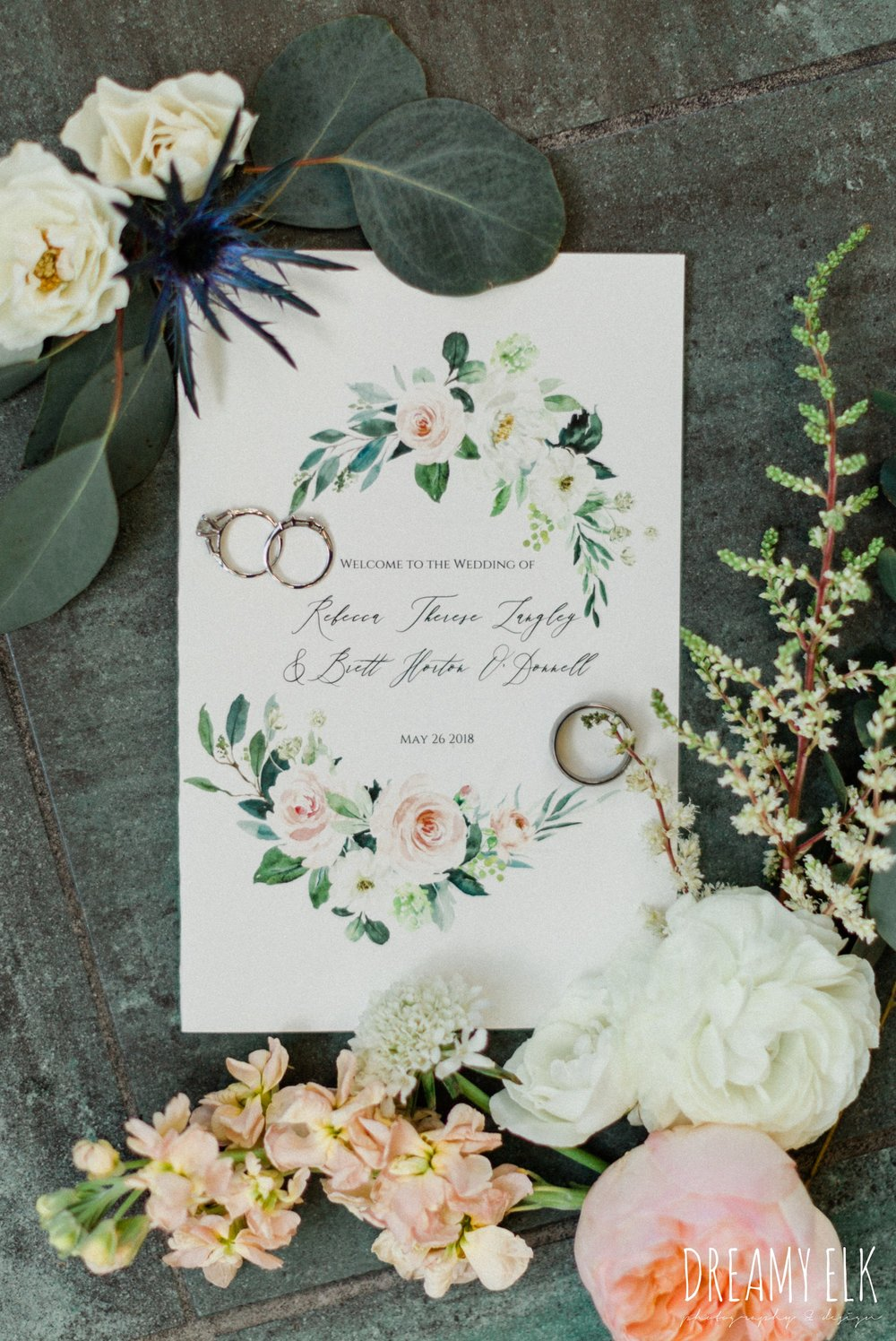 basic invite, unforgettable floral, spring wedding photo college station texas, dreamy elk photography and design