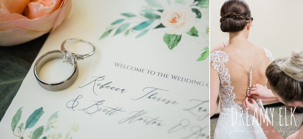 basic invite, wedding rings, bride getting dressed, spring wedding photo college station texas, dreamy elk photography and design